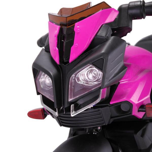 Kids Electric Ride-on Motorcycle, Pink kids electric ride on motorcycle white 13