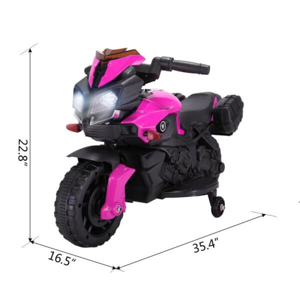 Kids Electric Ride-on Motorcycle, Pink kids electric ride on motorcycle white 32