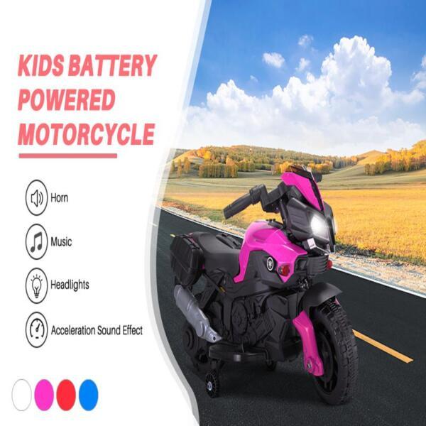 Kids Electric Ride-on Motorcycle, Pink kids electric ride on motorcycle white 35