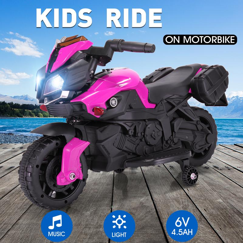 Kid's Ride on Motorcycle Toy kids electric ride on motorcycle white 37 1
