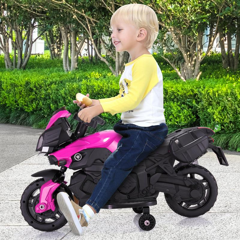Kid's Ride on Motorcycle Toy kids electric ride on motorcycle white 5