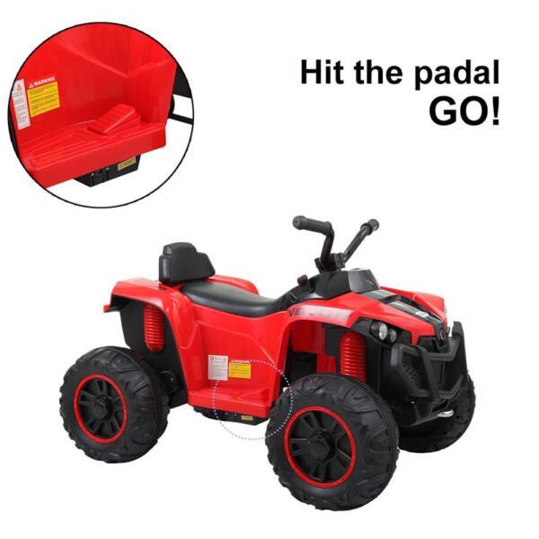 Kids Ride On ATV, Red kids ride on atv white 6