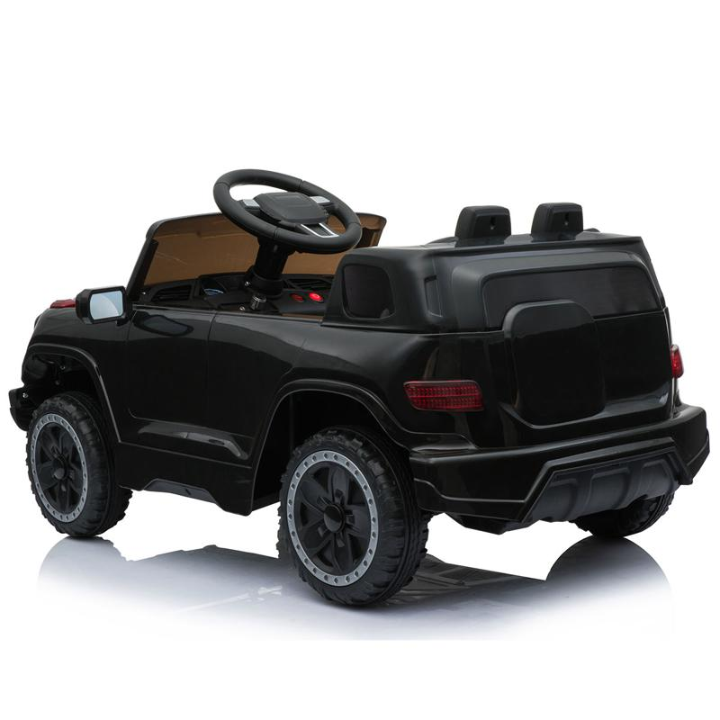 Black Ride On Car Toy For Kids With Remote kids ride on car 6v racing vehicle black 10 2