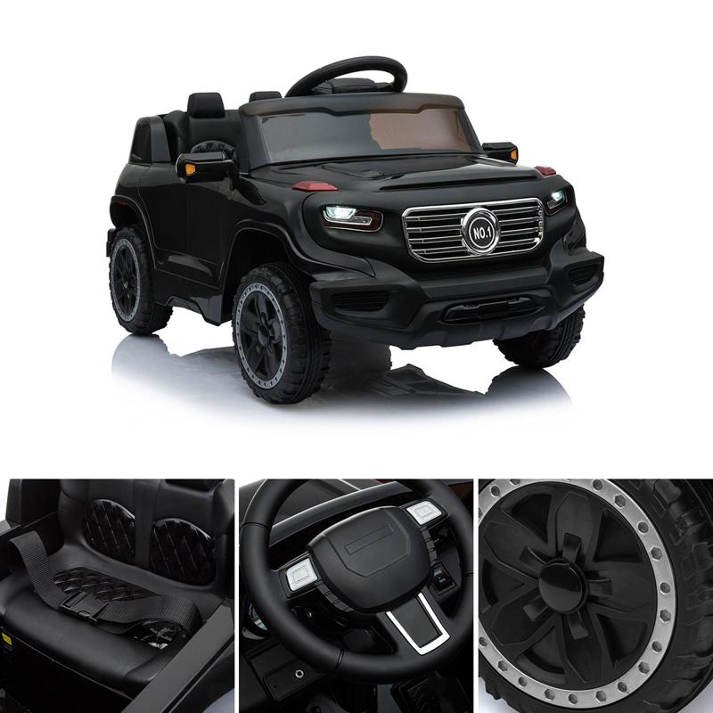 Black Ride On Car Toy For Kids With Remote kids ride on car 6v racing vehicle black 13 1