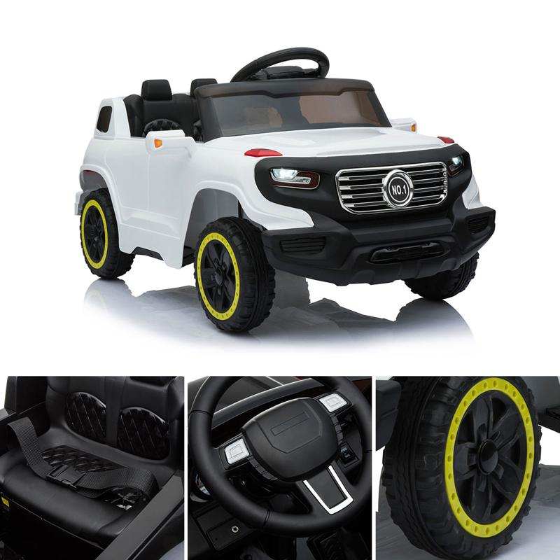 6V Electric Kid's SUV Toy with Remote, White kids ride on car 6v racing vehicle white 13 1