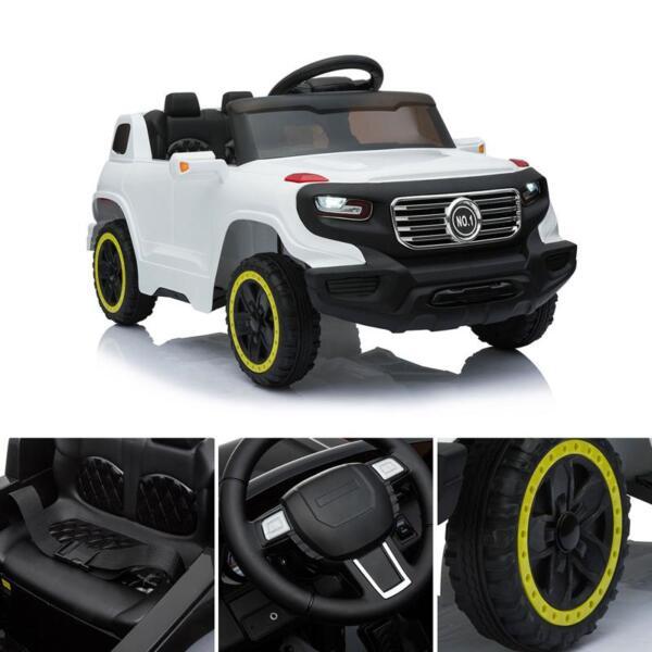 Kids Ride On Car 6V Racing Vehicle, White kids ride on car 6v racing vehicle white 13