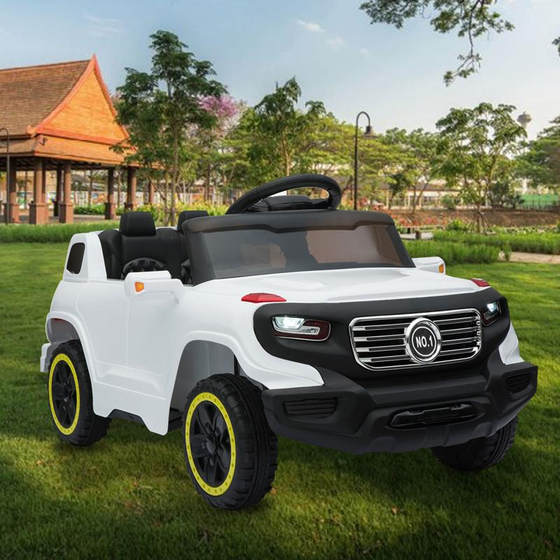 6V Electric Kid's SUV Toy with Remote, White kids ride on car 6v racing vehicle white 14 1