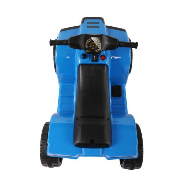 Four Wheeler Electirc Ride On Quad ATV For Kids, Blue kids ride on car atv 4 wheels battery powered blue 1
