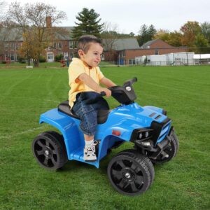 Home kids ride on car atv 4 wheels battery powered blue 13 kids electric cars