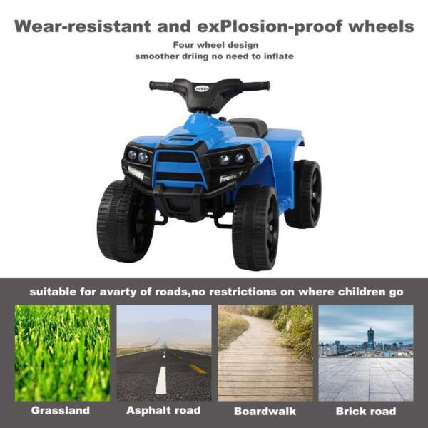Four Wheeler Electirc Ride On Quad ATV For Kids, Blue kids ride on car atv 4 wheels battery powered blue 2