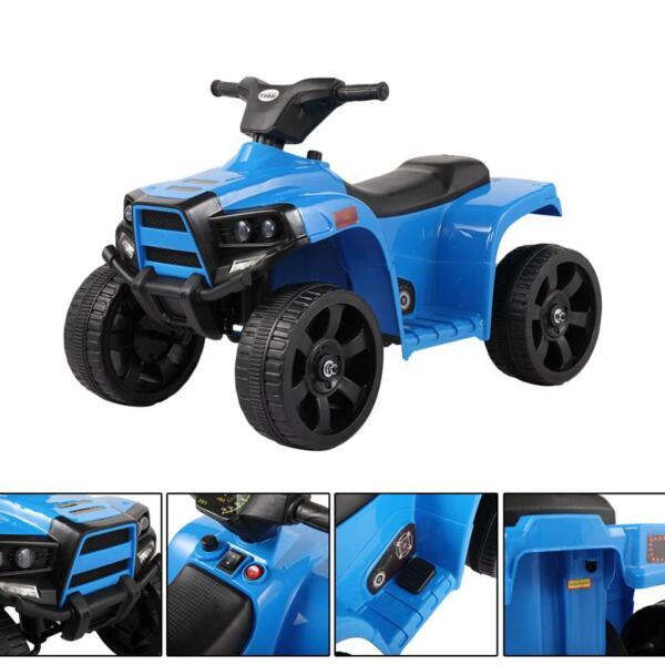 Four Wheeler Electirc Ride On Quad ATV For Kids, Blue kids ride on car atv 4 wheels battery powered blue 3