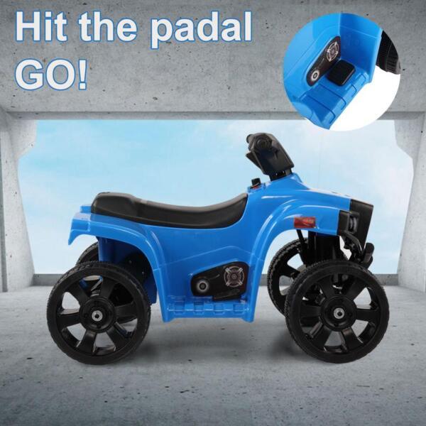 Four Wheeler Electirc Ride On Quad ATV For Kids, Blue kids ride on car atv 4 wheels battery powered blue 4