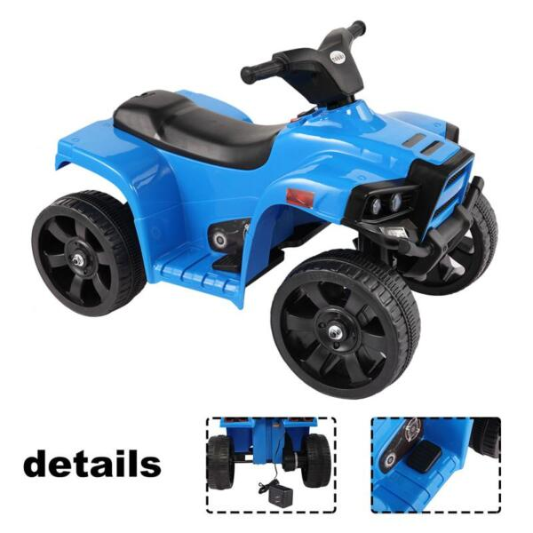 Four Wheeler Electirc Ride On Quad ATV For Kids, Blue kids ride on car atv 4 wheels battery powered blue 7