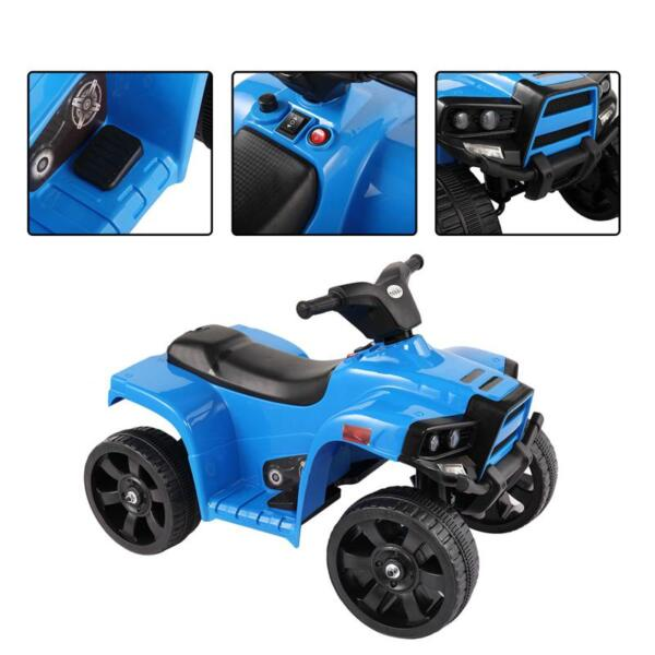 Four Wheeler Electirc Ride On Quad ATV For Kids, Blue kids ride on car atv 4 wheels battery powered blue 9
