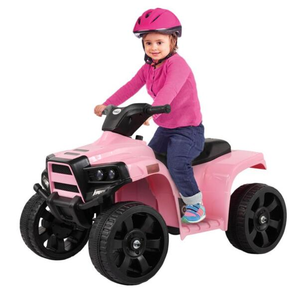 Four Wheeler Electirc Ride On Quad ATV For Kids, Pink kids ride on car atv 4 wheels battery powered pink 10