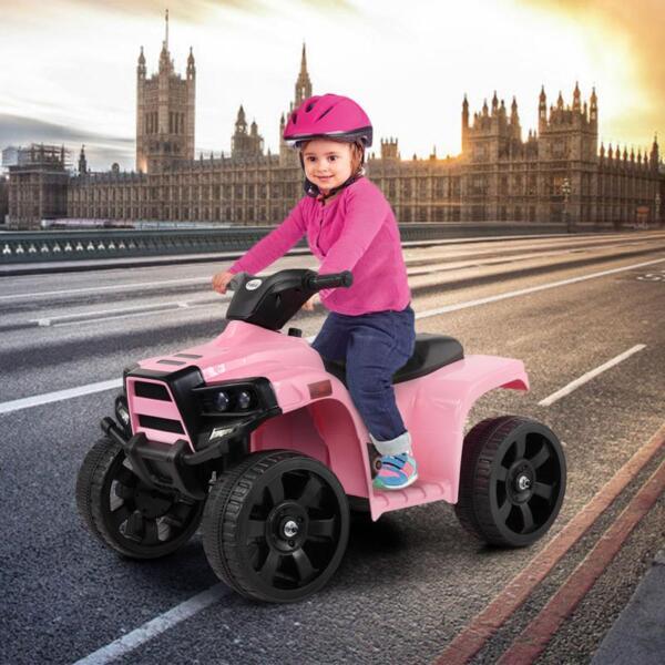 Four Wheeler Electirc Ride On Quad ATV For Kids, Pink kids ride on car atv 4 wheels battery powered pink 12