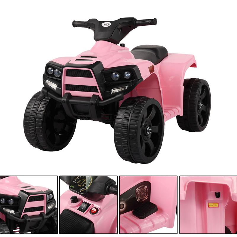 Four Wheeler Electirc Ride On Quad ATV For Kids, Pink kids ride on car atv 4 wheels battery powered pink 2 2