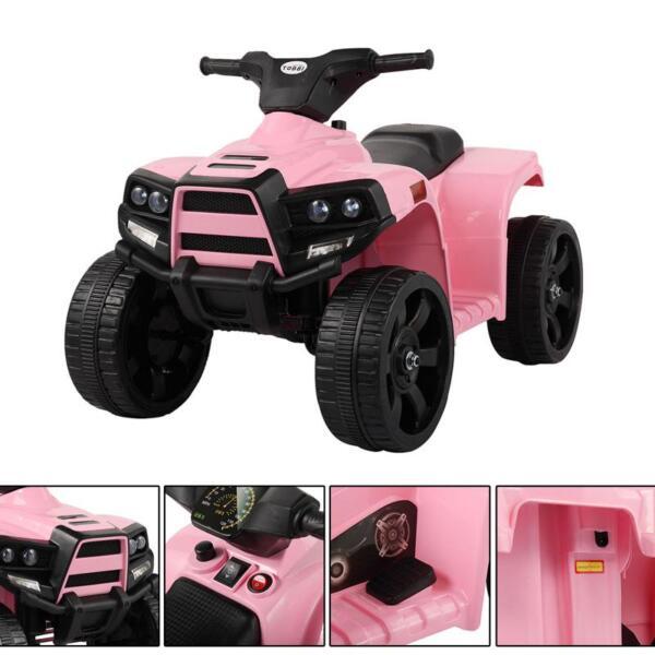 Four Wheeler Electirc Ride On Quad ATV For Kids, Pink kids ride on car atv 4 wheels battery powered pink 2
