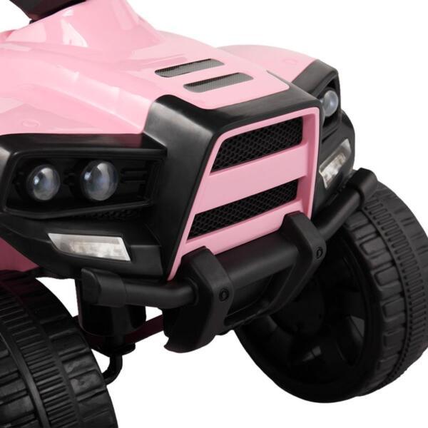 Four Wheeler Electirc Ride On Quad ATV For Kids, Pink kids ride on car atv 4 wheels battery powered pink 21