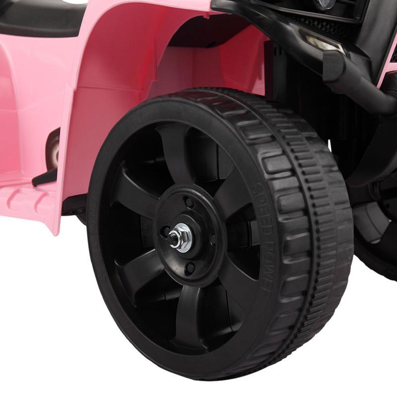 Four Wheeler Electirc Ride On Quad ATV For Kids, Pink kids ride on car atv 4 wheels battery powered pink 22