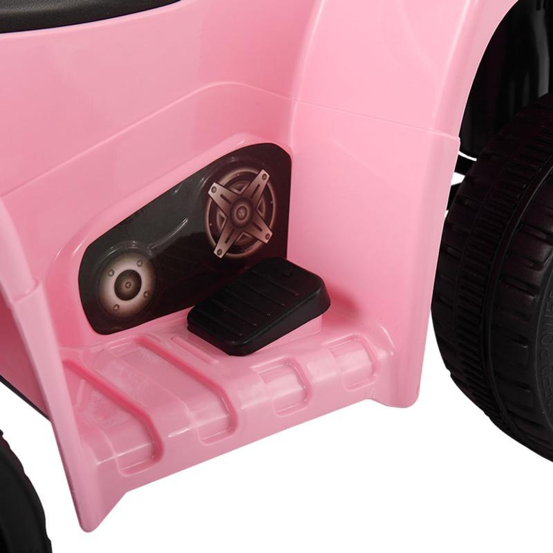 Four Wheeler Electirc Ride On Quad ATV For Kids, Pink kids ride on car atv 4 wheels battery powered pink 23