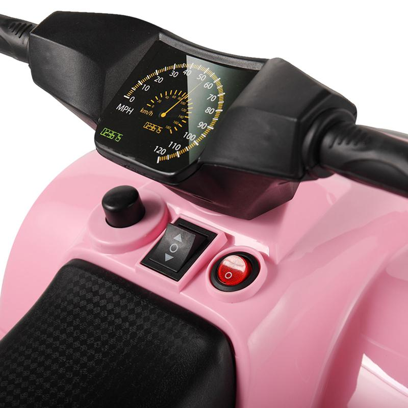 Four Wheeler Electirc Ride On Quad ATV For Kids, Pink kids ride on car atv 4 wheels battery powered pink 25 1