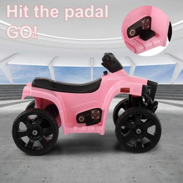 Four Wheeler Electirc Ride On Quad ATV For Kids, Pink kids ride on car atv 4 wheels battery powered pink 4