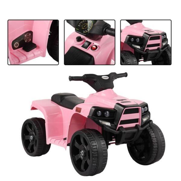 Four Wheeler Electirc Ride On Quad ATV For Kids, Pink kids ride on car atv 4 wheels battery powered pink 8 1