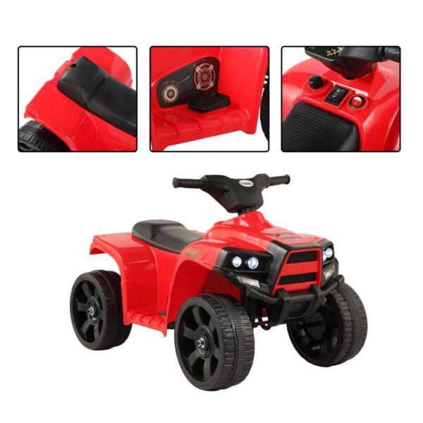 Kids Ride On Car ATV 4 Wheels Battery Powered, Red kids ride on car atv 4 wheels battery powered red 12
