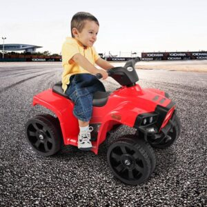 Home kids ride on car atv 4 wheels battery powered red 13 kids electric cars