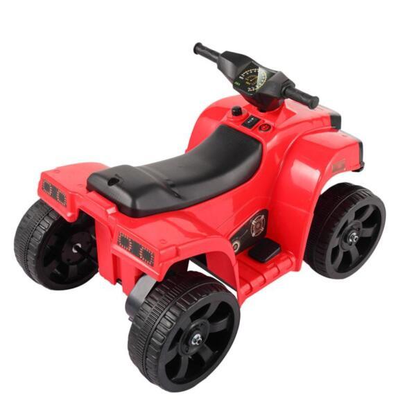 Kids Ride On Car ATV 4 Wheels Battery Powered, Red kids ride on car atv 4 wheels battery powered red 2