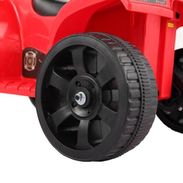 Kids Ride On Car ATV 4 Wheels Battery Powered, Red kids ride on car atv 4 wheels battery powered red 23