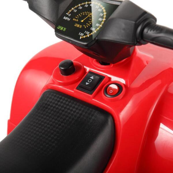 Kids Ride On Car ATV 4 Wheels Battery Powered, Red kids ride on car atv 4 wheels battery powered red 24