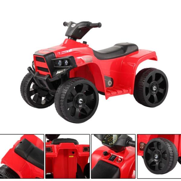 Kids Ride On Car ATV 4 Wheels Battery Powered, Red kids ride on car atv 4 wheels battery powered red 6 1