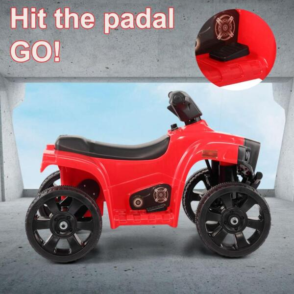Kids Ride On Car ATV 4 Wheels Battery Powered, Red kids ride on car atv 4 wheels battery powered red 7
