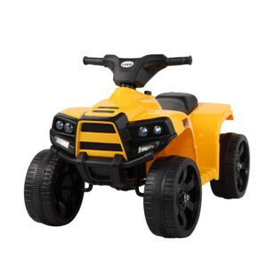 Home kids ride on car atv 4 wheels battery powered yellow 0 kids electric cars