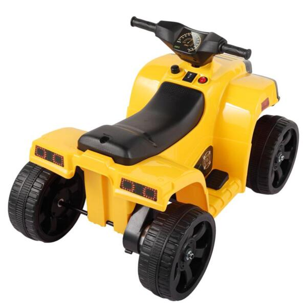 Four Wheeler Electirc Ride On Quad ATV For Kids, Yellow kids ride on car atv 4 wheels battery powered yellow 1