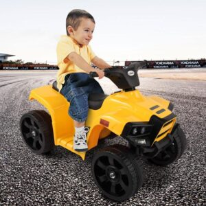 Home kids ride on car atv 4 wheels battery powered yellow 12 kids electric cars