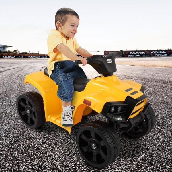 Four Wheeler Electirc Ride On Quad ATV For Kids, Yellow kids ride on car atv 4 wheels battery powered yellow 12