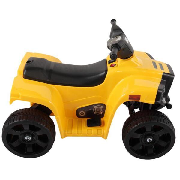 Four Wheeler Electirc Ride On Quad ATV For Kids, Yellow kids ride on car atv 4 wheels battery powered yellow 5