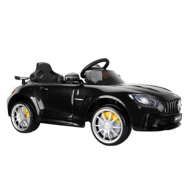 6V Licensed Mercedes Benz AMG GTR with Parental Remote Control, Black kids ride on car benz licensed amg gtr black 13