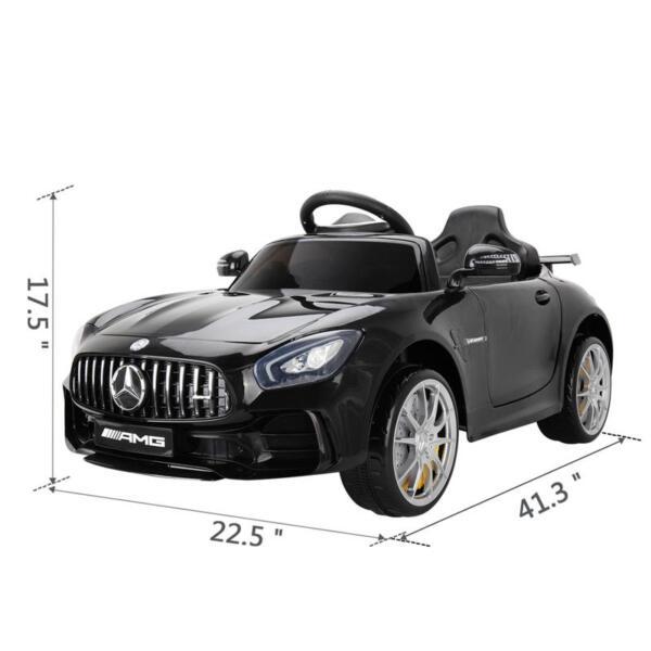 6V Licensed Mercedes Benz AMG GTR with Parental Remote Control, Black kids ride on car benz licensed amg gtr black 14