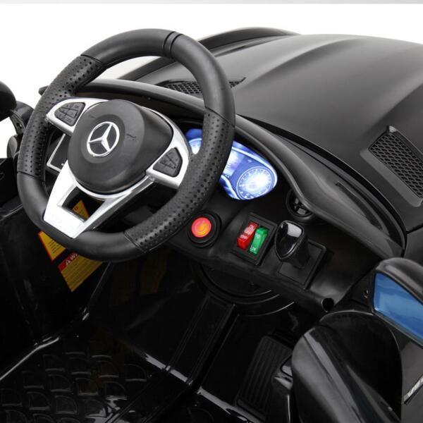 6V Licensed Mercedes Benz AMG GTR with Parental Remote Control, Black kids ride on car benz licensed amg gtr black 20