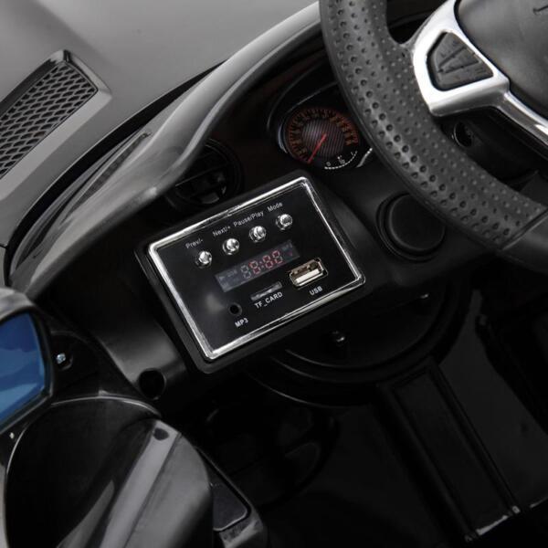 6V Licensed Mercedes Benz AMG GTR with Parental Remote Control, Black kids ride on car benz licensed amg gtr black 21