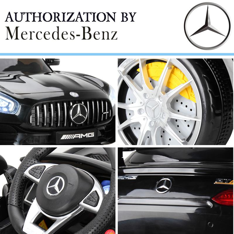 6V Licensed Mercedes Benz AMG GTR with Parental Remote Control, Black kids ride on car benz licensed amg gtr black 25 1
