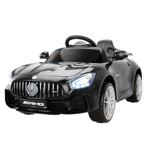 6V Licensed Mercedes Benz AMG GTR with Parental Remote Control, Black kids ride on car benz licensed amg gtr black 7