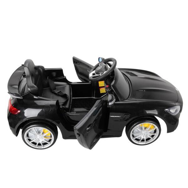 6V Licensed Mercedes Benz AMG GTR with Parental Remote Control, Black kids ride on car benz licensed amg gtr black 9