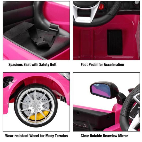 Kids Ride on Car, Benz Licensed AMG GTR, Pink kids ride on car benz licensed amg gtr pink 27