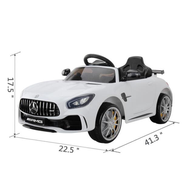 Kids Ride on Car, Benz Licensed AMG GTR, White kids ride on car benz licensed amg gtr white 17