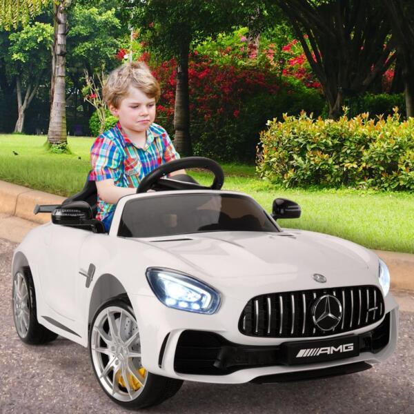 Kids Ride on Car, Benz Licensed AMG GTR, White kids ride on car benz licensed amg gtr white 19